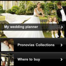 Aplicatie Pronovias pentru alegerea rochiei de mireasa